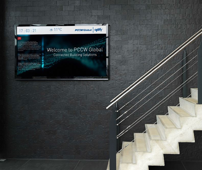 Improve engagement with building occupants using digital signage